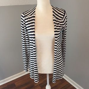 Vineyard Vines Navy Striped Open Cardigan